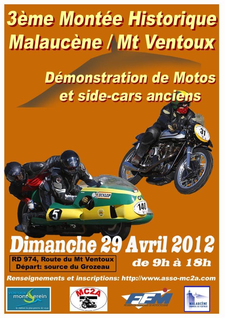 malaucene mont ventoux 2012 motos classiques de comp tition d 39 avignon mc2a. Black Bedroom Furniture Sets. Home Design Ideas